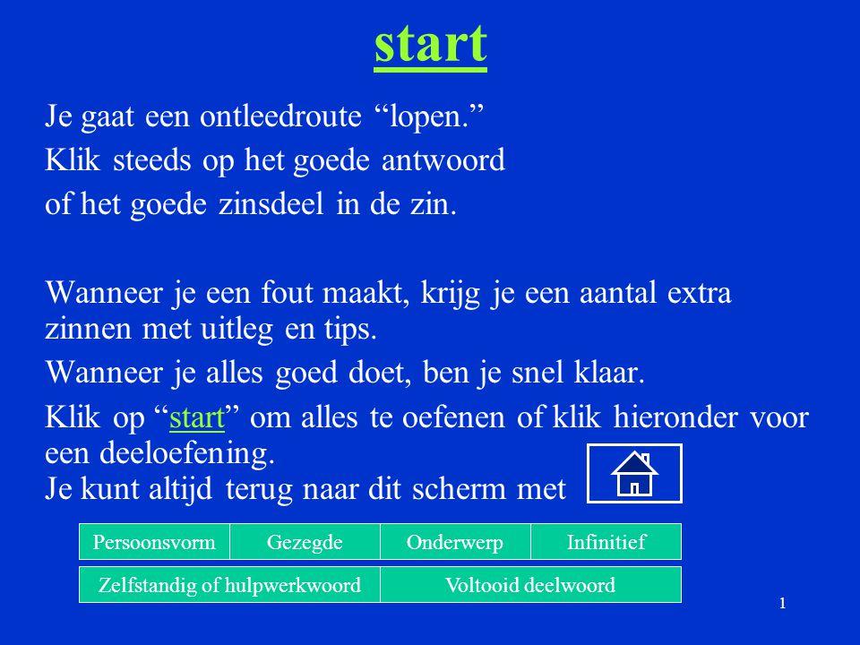 52 Zelfstandig werkwoord Klik in de volgende zin op het zelfstandig werkwoord: De Nederlandse schaatsersDe Nederlandse schaatsers hebben goud gewonnen.hebbengoudgewonnen.