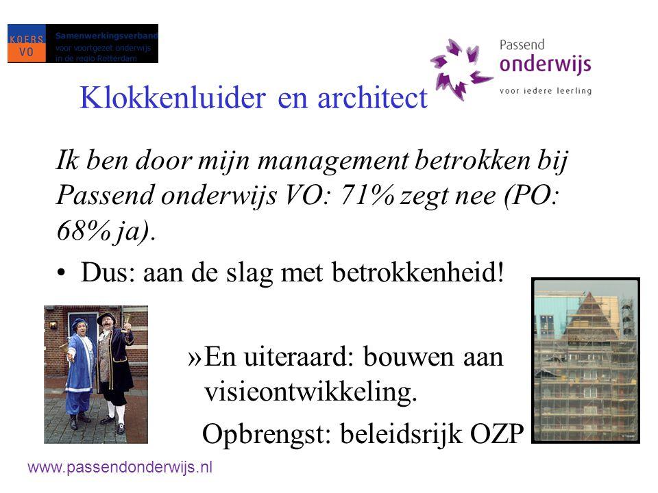 II) De leraar Positioneren Opleiding * klassenmanagement * aanpak gedrag Grenzen aan de zorg Ondersteuning in de klas www.passendonderwijs.nl