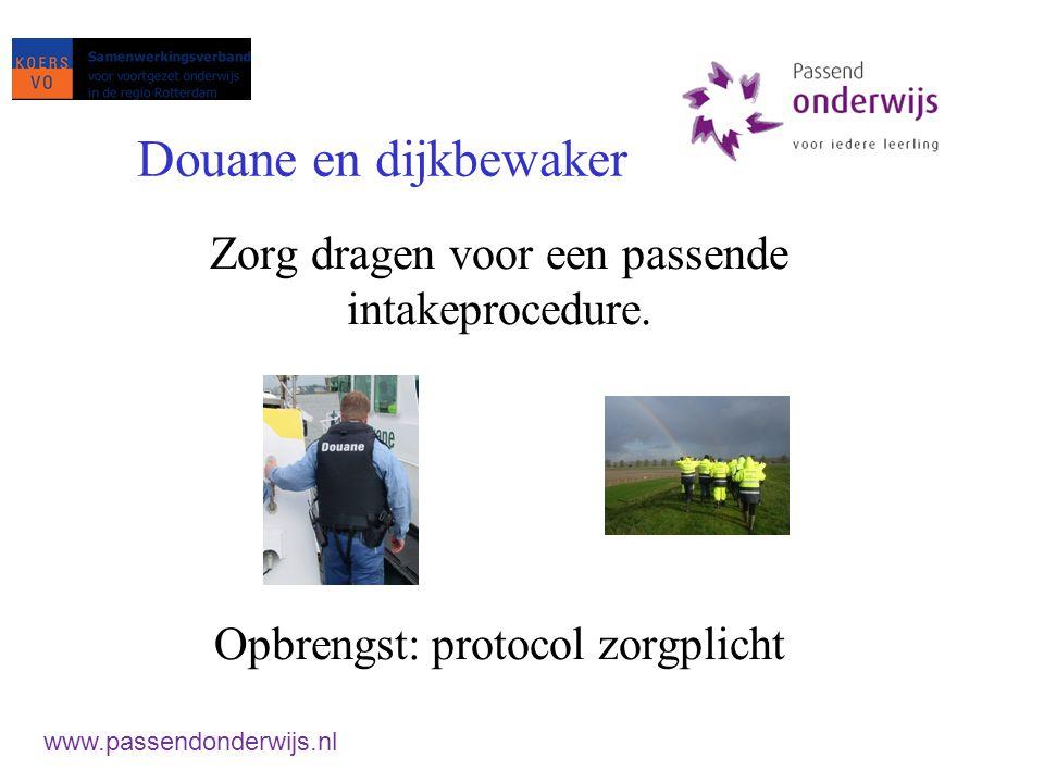 Taak 2: Nieuwe SWV SWV'en + cluster 3 en 4 SO met PO VSO met VO Afspraken met: Cluster 1 en 2 Externe partners www.passendonderwijs.nl