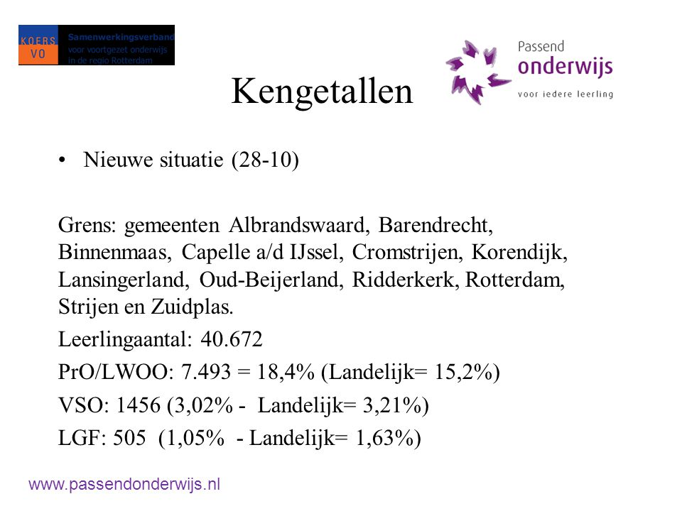 Taak 3: Dekkend aanbod Geen kind tussen wal en schip www.passendonderwijs.nl