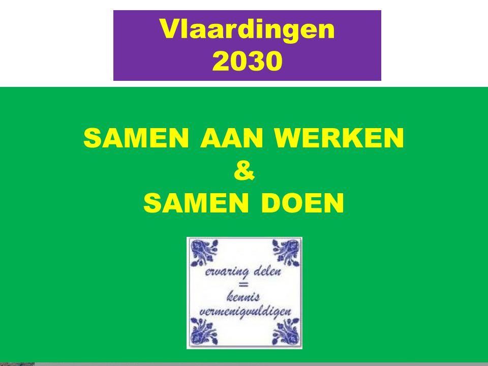 Vlaardingen 2030 GROEN schoon veilig voor iedereen een lust om te WONEN & WERKEN SAMEN AAN WERKEN & SAMEN DOEN