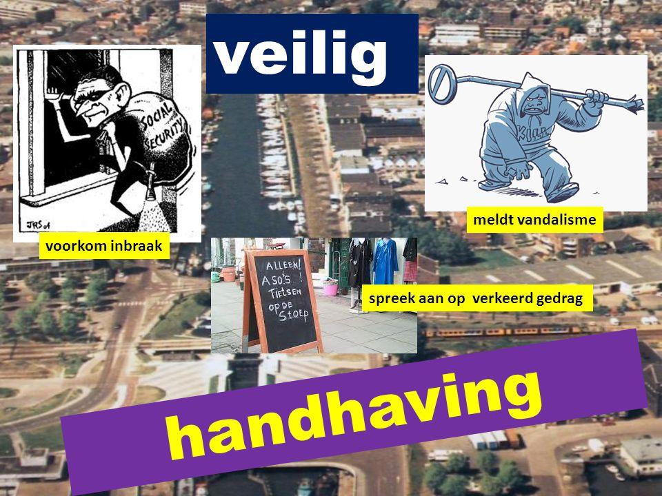 veilig handhaving voorkom inbraak meldt vandalisme spreek aan op verkeerd gedrag