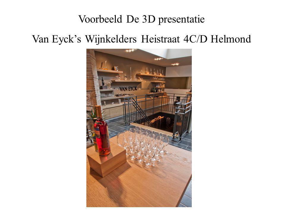 Voorbeeld De 3D presentatie Van Eyck's Wijnkelders Heistraat 4C/D Helmond