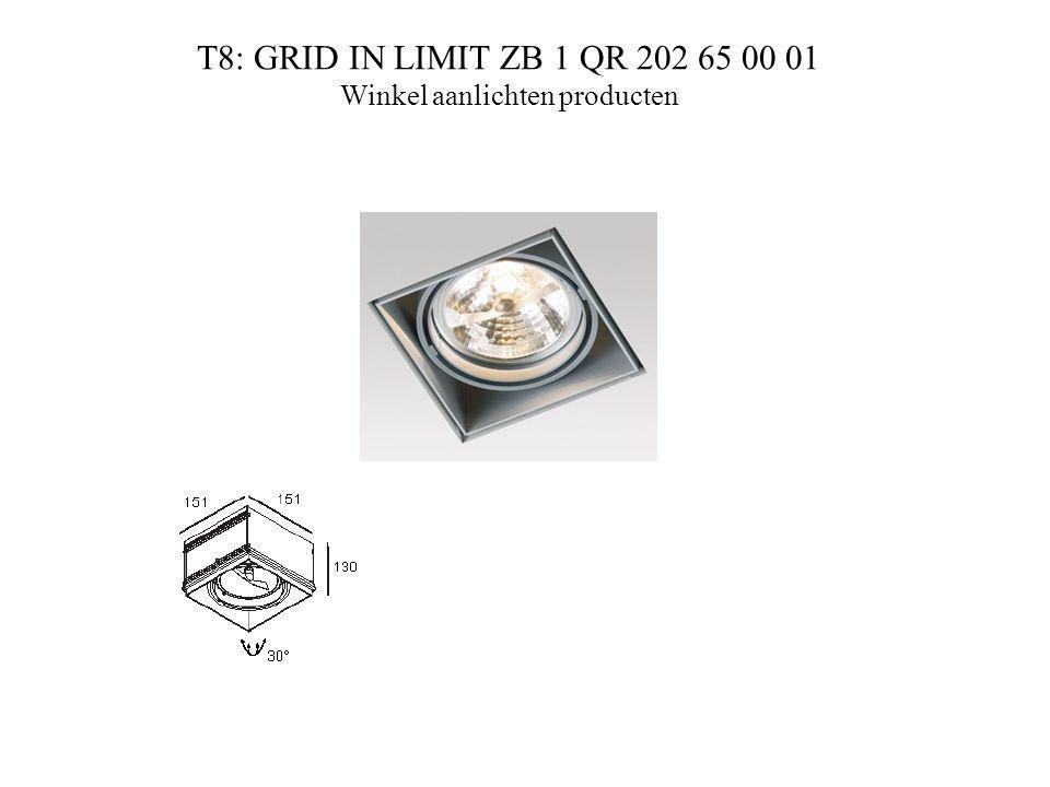 T8: GRID IN LIMIT ZB 1 QR 202 65 00 01 Winkel aanlichten producten