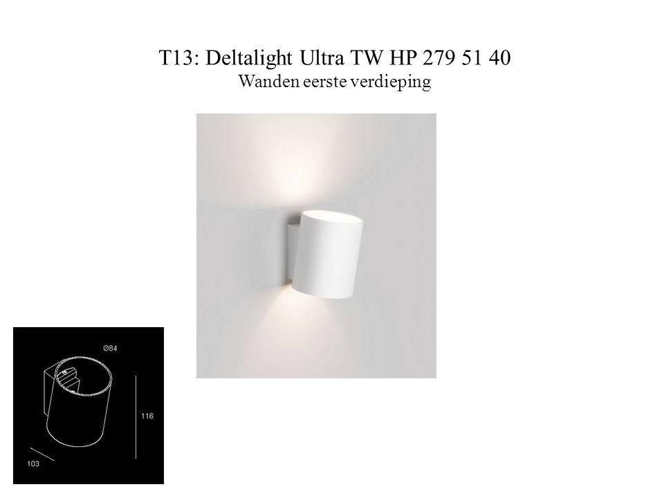 T13: Deltalight Ultra TW HP 279 51 40 Wanden eerste verdieping