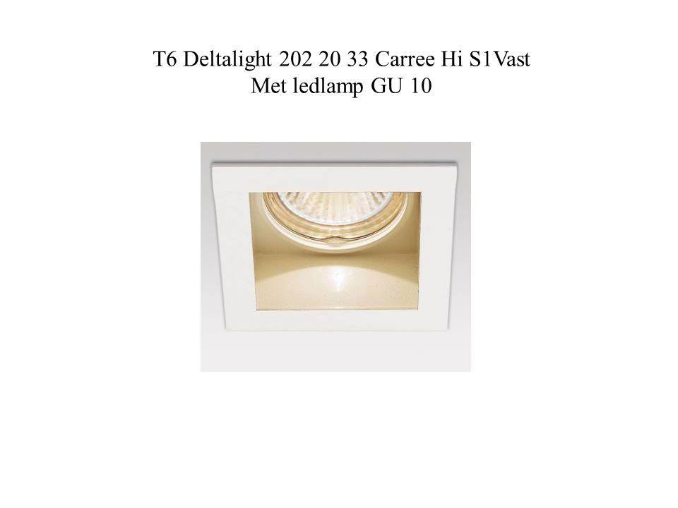 T6 Deltalight 202 20 33 Carree Hi S1Vast Met ledlamp GU 10