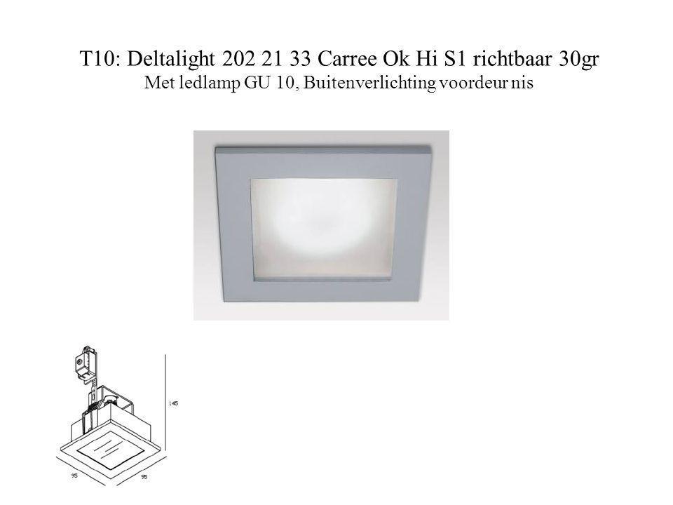 T10: Deltalight 202 21 33 Carree Ok Hi S1 richtbaar 30gr Met ledlamp GU 10, Buitenverlichting voordeur nis