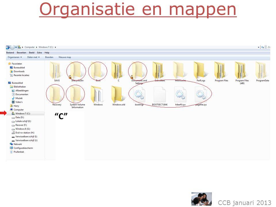 Organisatie en mappen CCB januari 2013 C