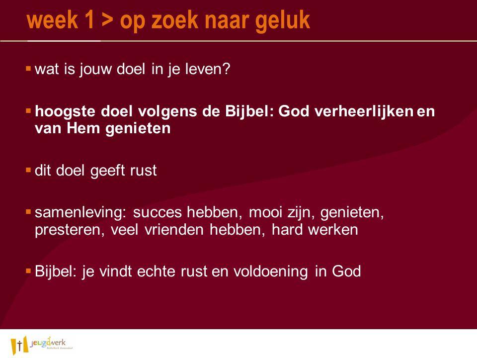  Vreugde in God: alleen als God gezondheid, een baan, rijkdom, veel vrienden, …..