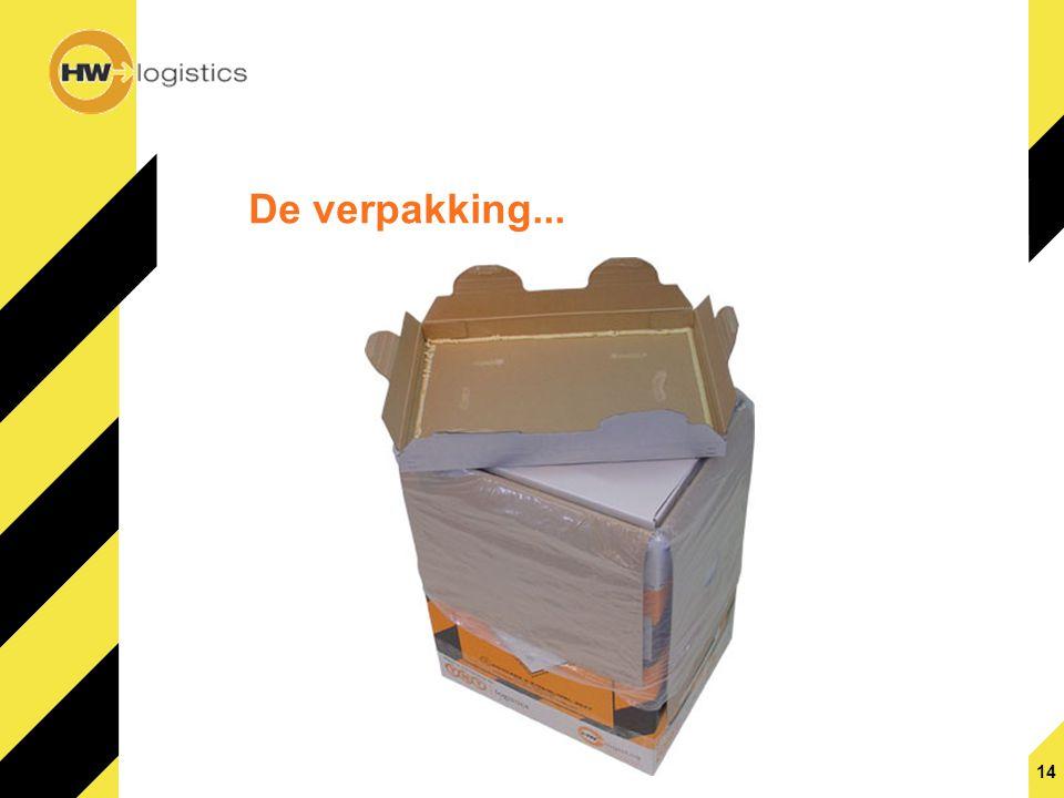 14 De verpakking...