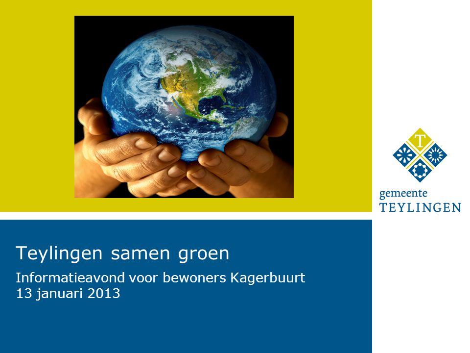 Teylingen samen groen Informatieavond voor bewoners Kagerbuurt 13 januari 2013
