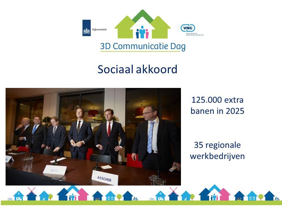 Sociaal akkoord 125.000 extra banen in 2025 35 regionale werkbedrijven