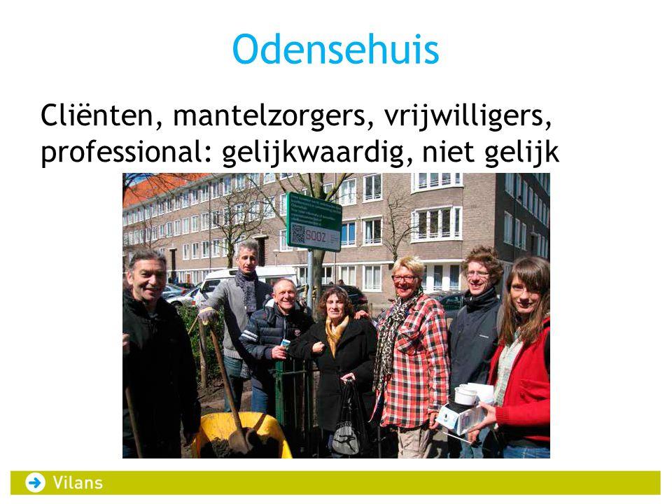 Odensehuis Cliënten, mantelzorgers, vrijwilligers, professional: gelijkwaardig, niet gelijk
