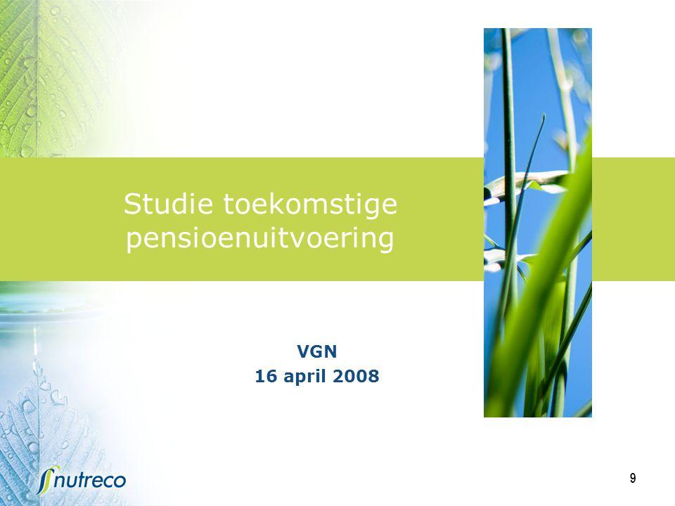 9 Studie toekomstige pensioenuitvoering VGN 16 april 2008