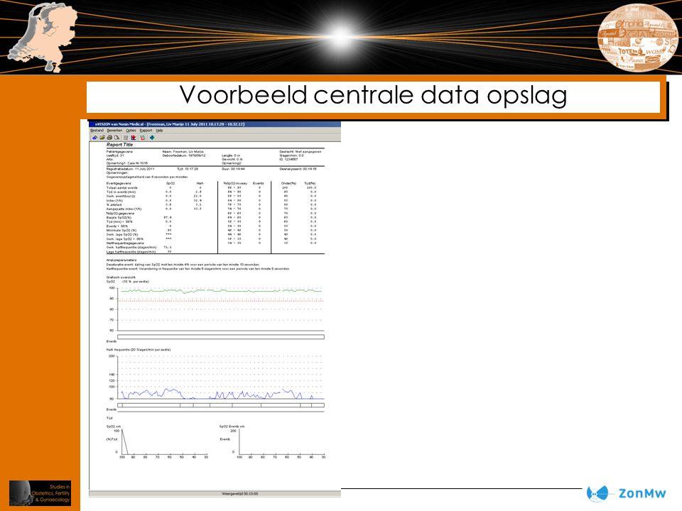 Voorbeeld centrale data opslag