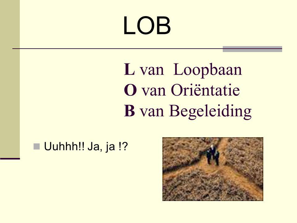 LOB Kennis: Sectorgericht Beroepsgericht Algemeen vormend: Zelfstandigheid bevorderend Leren plannen Mensgericht Discipline