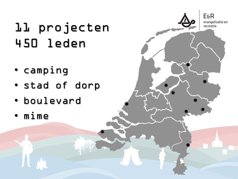 11 projecten 450 leden campingcamping stad of dorpstad of dorp boulevardboulevard mimemime
