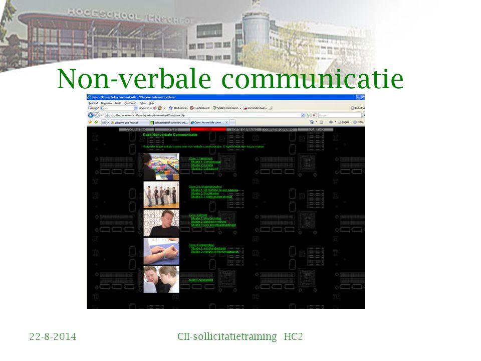 Non-verbale communicatie 22-8-2014CII-sollicitatietraining HC2