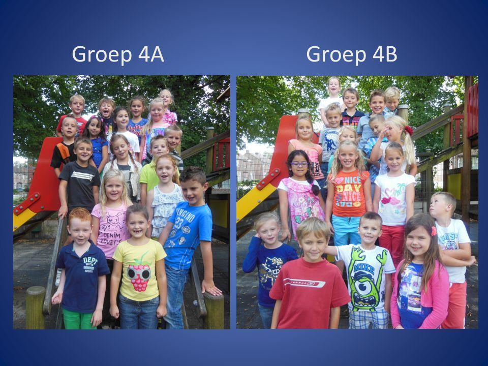 In groep 4A geeft juf Leidi/ juf Marie-José les op maandag t/m donderdagochtend.