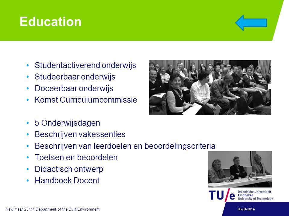 Education Studentactiverend onderwijs Studeerbaar onderwijs Doceerbaar onderwijs Komst Curriculumcommissie 5 Onderwijsdagen Beschrijven vakessenties B