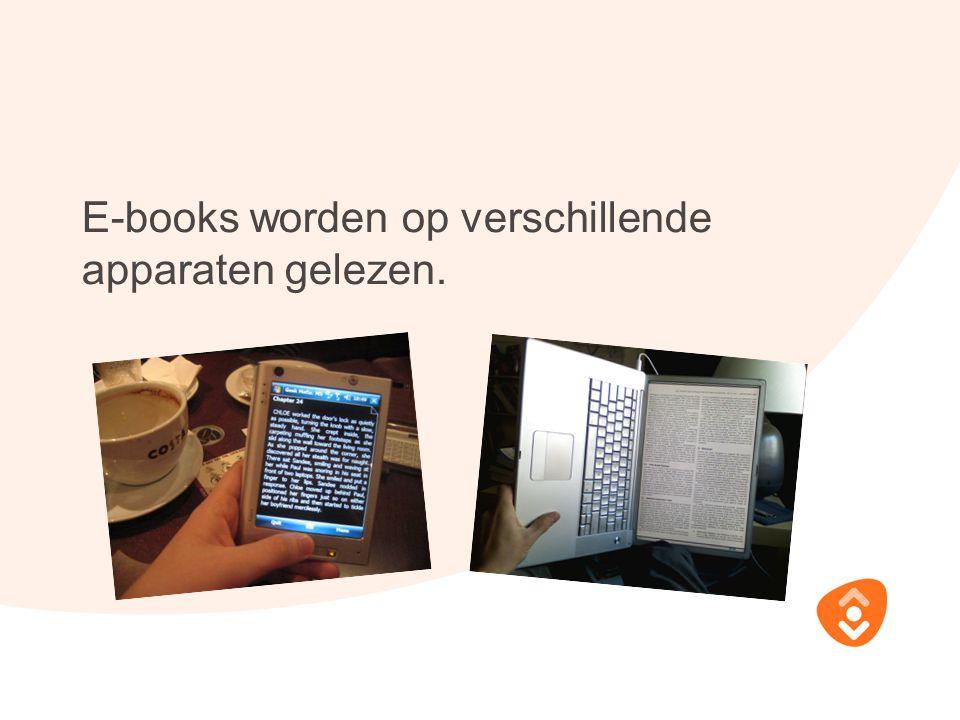 E-books worden op verschillende apparaten gelezen.