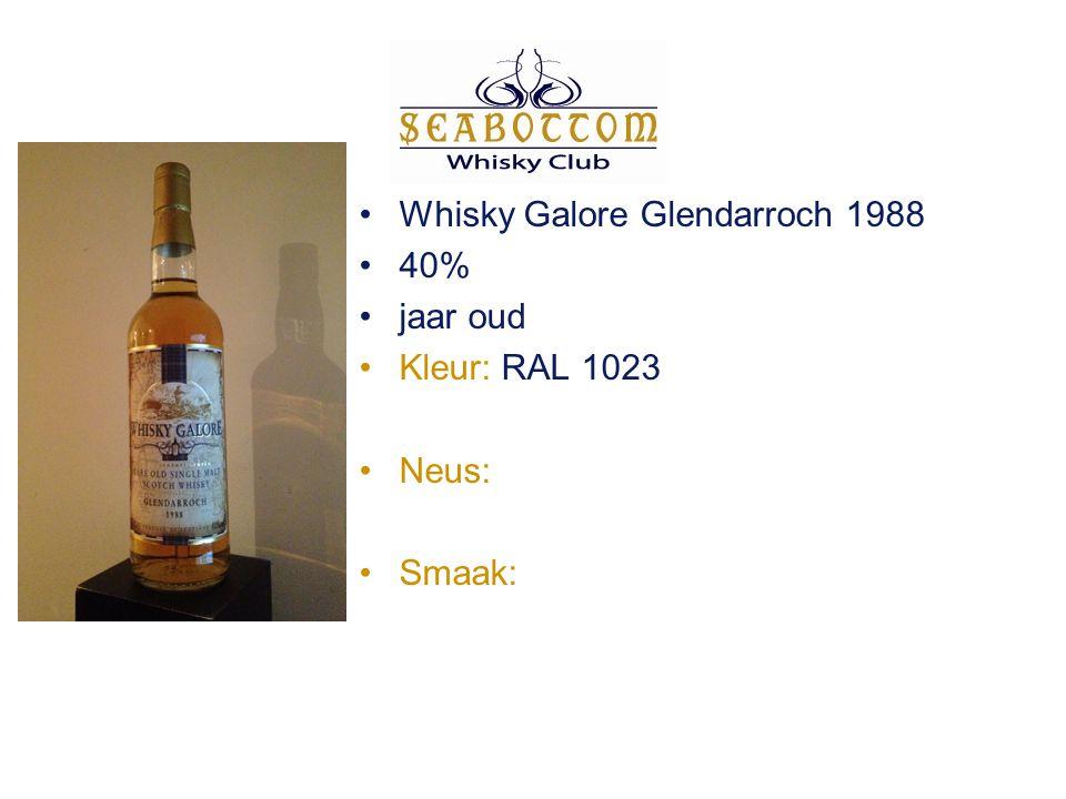 Glengyle Kilkerran 46% 5 jaar oud Kleur: RAL 1011 Neus: gedroogd gras, limoen en appels Smaak: amandel, graan, gras