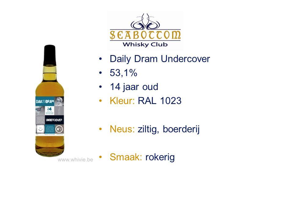 Mackillop's Choice Ballantruan 2001 62,1% 4 jaar oud Kleur: RAL 1014 Neus: mout, sherry, toffee Smaak: mout, rozijnen en graan