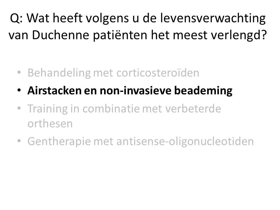 Q2 : Wat heeft volgens u de levensverwachting van Duchenne patiënten het meest verlengd.