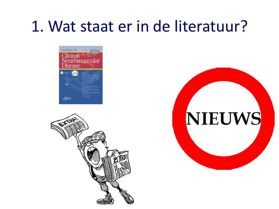 Wat staat er in de literatuur?