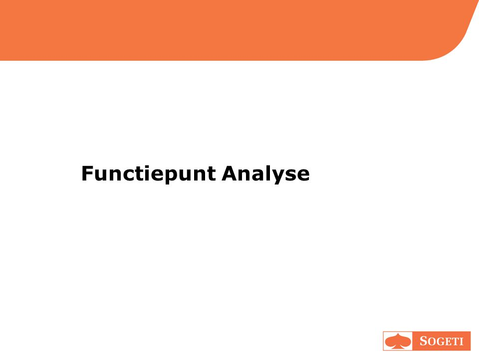 Functiepunt Analyse