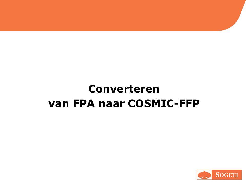 Converteren van FPA naar COSMIC-FFP
