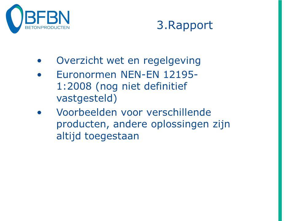 3.Rapport Overzicht wet en regelgeving Euronormen NEN-EN 12195- 1:2008 (nog niet definitief vastgesteld) Voorbeelden voor verschillende producten, and