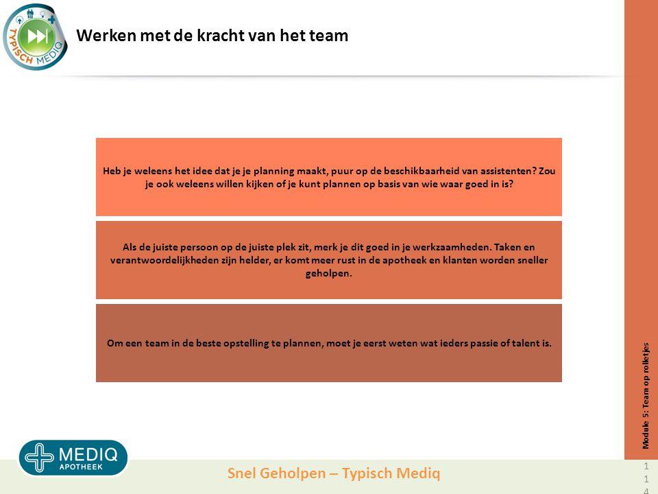 Snel Geholpen – Typisch Mediq Werken met de kracht van het team Heb je weleens het idee dat je je planning maakt, puur op de beschikbaarheid van assistenten.