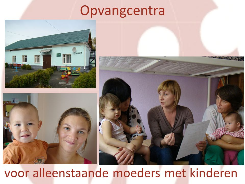 voor alleenstaande moeders met kinderen Opvangcentra