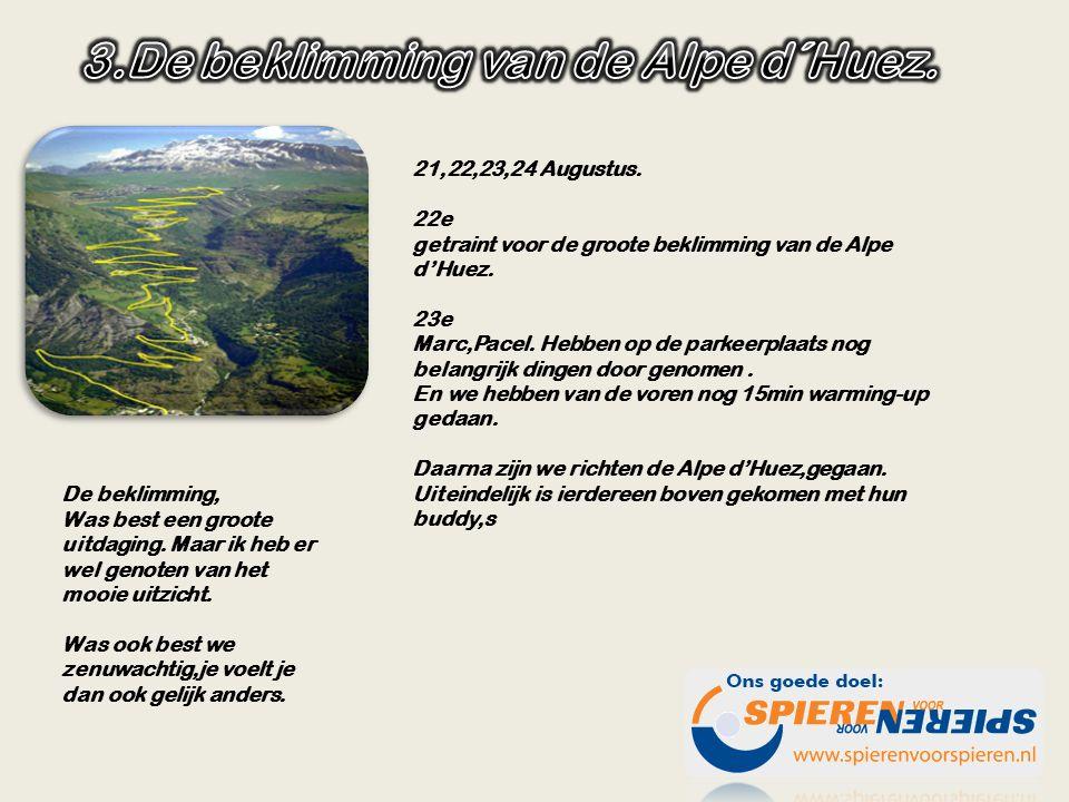21,22,23,24 Augustus.22e getraint voor de groote beklimming van de Alpe d'Huez.