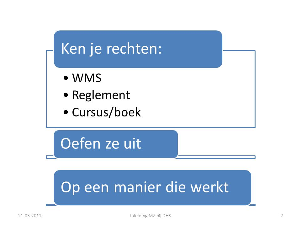 Organogram Stichting De Haagse Scholen Het bestuur wordt binnenkort omgevormd tot een Raad van Toezicht (wet 'Goed onderwijs, goed bestuur' ) 21-03-2011Inleiding MZ bij DHS8