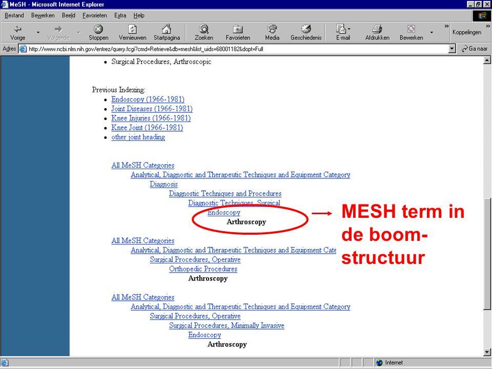 MESH term in de boom- structuur