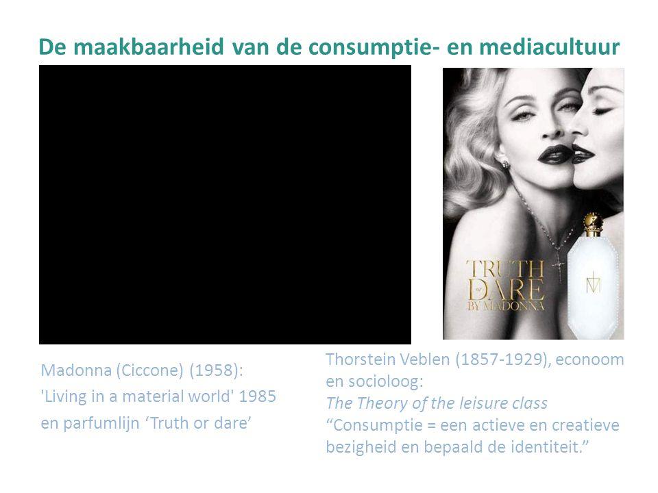 De maakbaarheid van de consumptie- en mediacultuur Barbara Kruger (1945): I shop therefore I am' Buy me I ll change your live' Your body is a battleground' http://www.barbarakruger.com/biography.shtml
