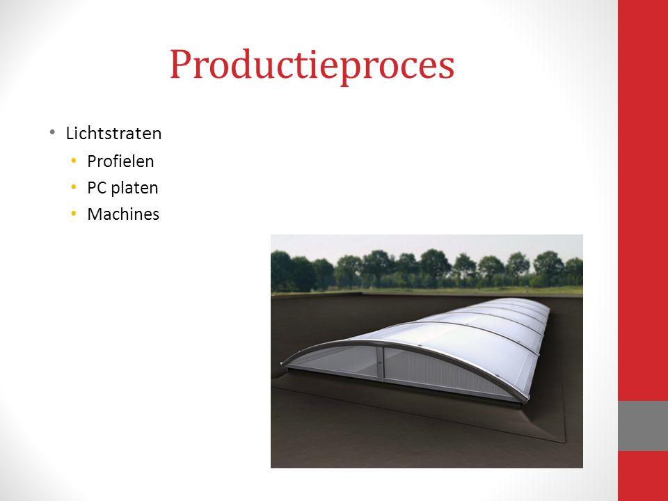 Productieproces Lichtstraten Profielen PC platen Machines
