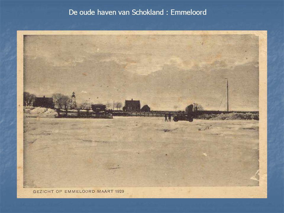 Luchtfoto van Schokland rond 1935