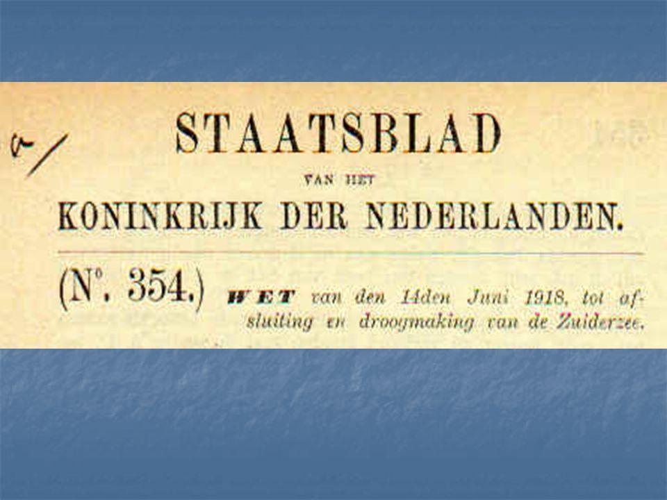 Om Nederland in de toekomst minder afhankelijk te maken van het buitenland, moest de eigen voedselproductie worden verhoogd. Dit kon door de Zuiderzee