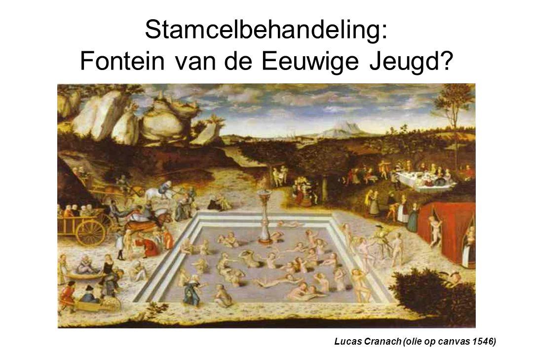 Stamcelbehandeling: Fontein van de Eeuwige Jeugd? Lucas Cranach (olie op canvas 1546)