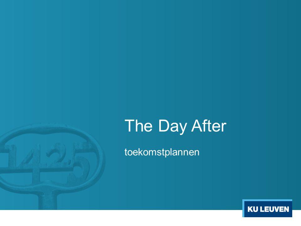 The Day After - toekomstplannen VOOR STUDENTEN Infosessies  Hoe haal ik meer uit mijn eigen laptop / tablet .