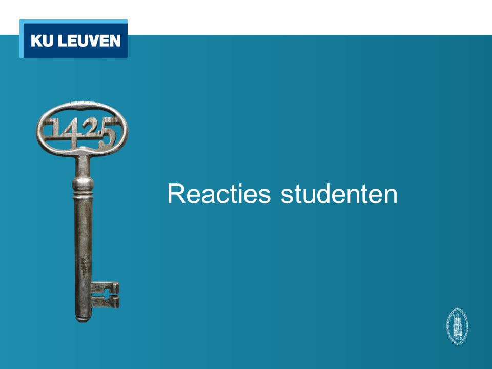Reacties studenten