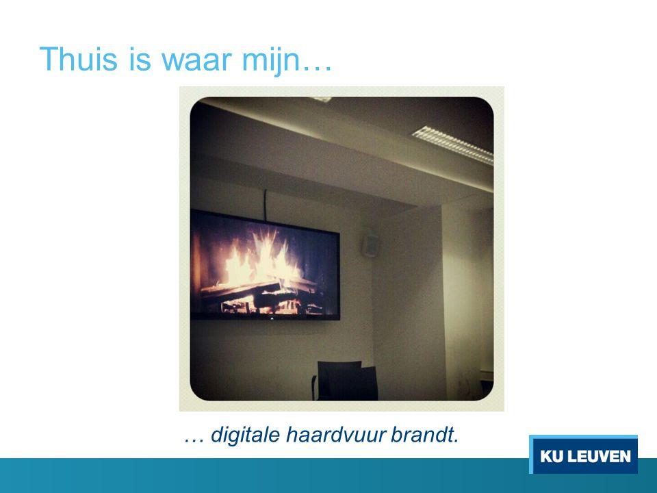 Thuis is waar mijn… … digitale haardvuur brandt.