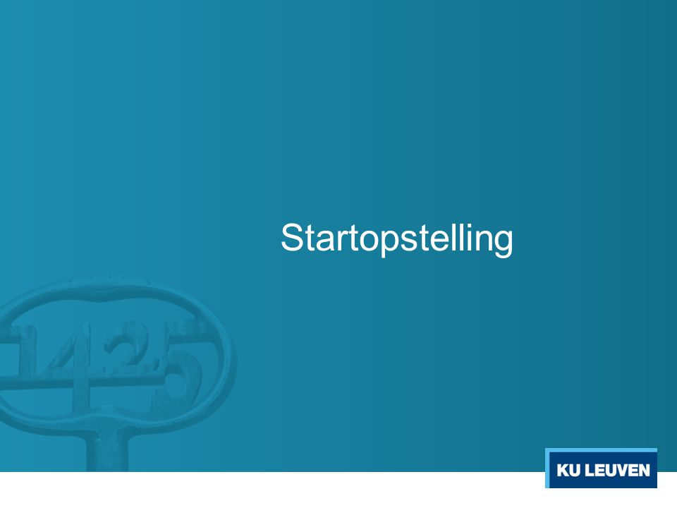 Startopstelling