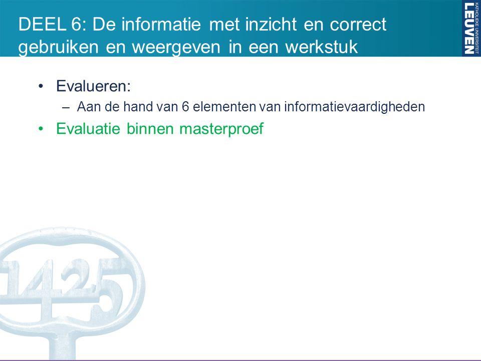 BasisGevorderd 1.Informatieopdracht kunnen bepalen 2.
