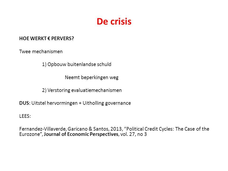De crisis HOE WERKT € PERVERS.
