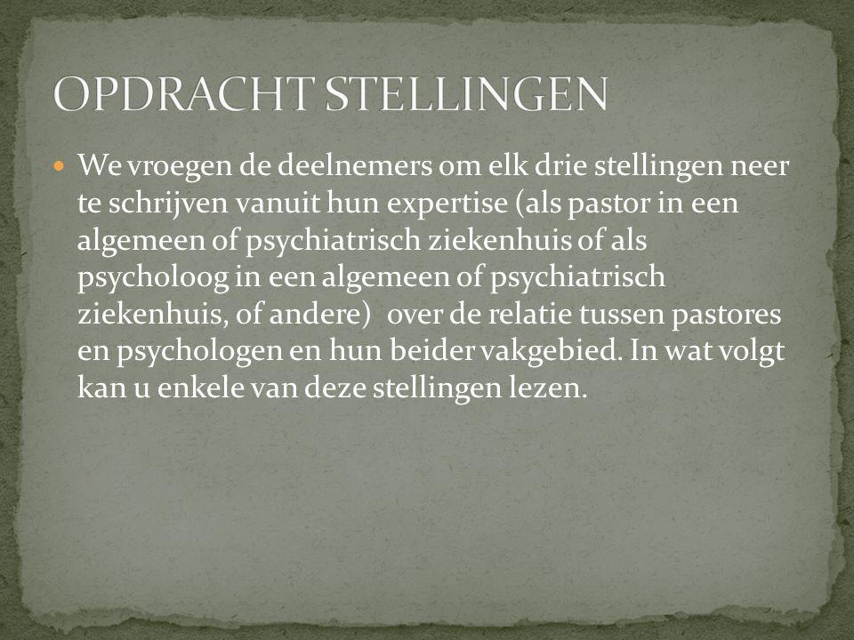 Een pastor spreekt vanuit zijn christelijke geloofsovertuiging in respect voor de geloofsovertuiging van degene die tegenover hem zit.