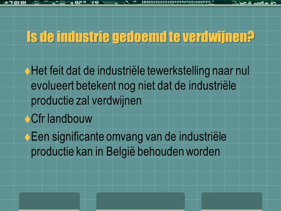 Is de industrie gedoemd te verdwijnen?  Het feit dat de industriële tewerkstelling naar nul evolueert betekent nog niet dat de industriële productie